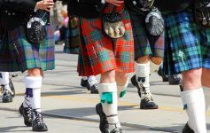 bagpipers in parade