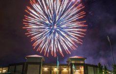 fireworks over the joe bruno stadium