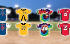 image of four specialty jerseys