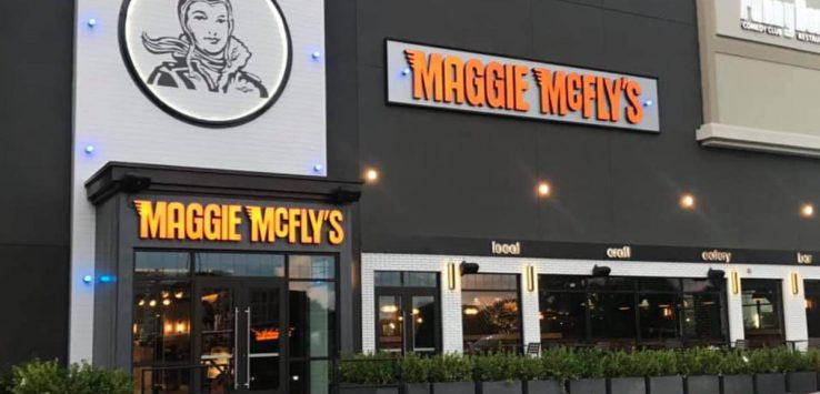 outside of maggie mcfly's restaurant