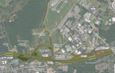 a map of the upcoming changes to the northway