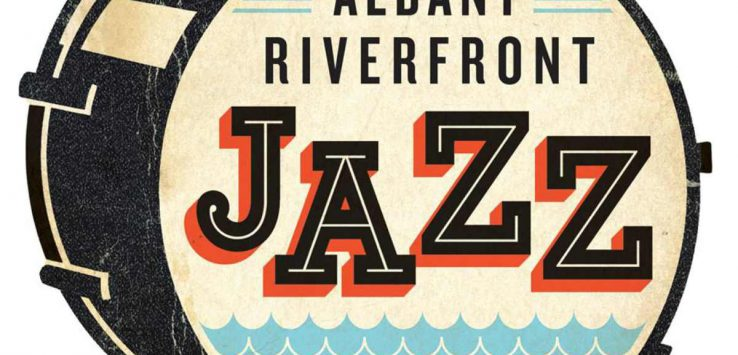 logo for albany riverfront jazz festival