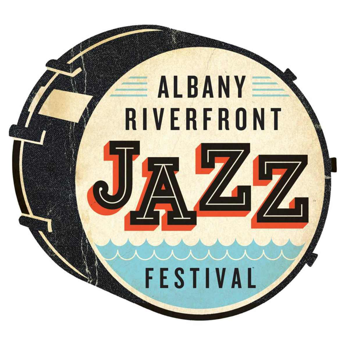 logo for albany riverfront jazz festival