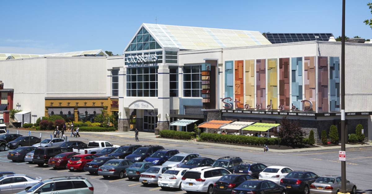 exterior of crossgates mall