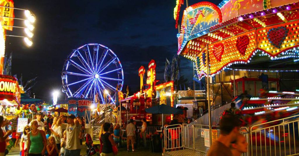 county fair at night