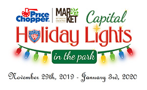 Capital holiday lights in the park logo