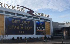 exterior of rivers casino and resort