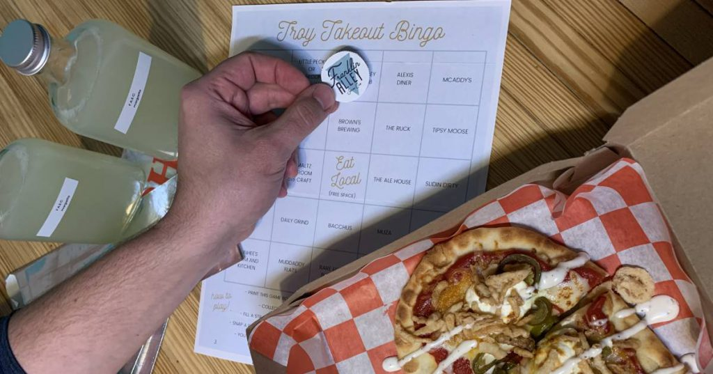 takeout bingo and food