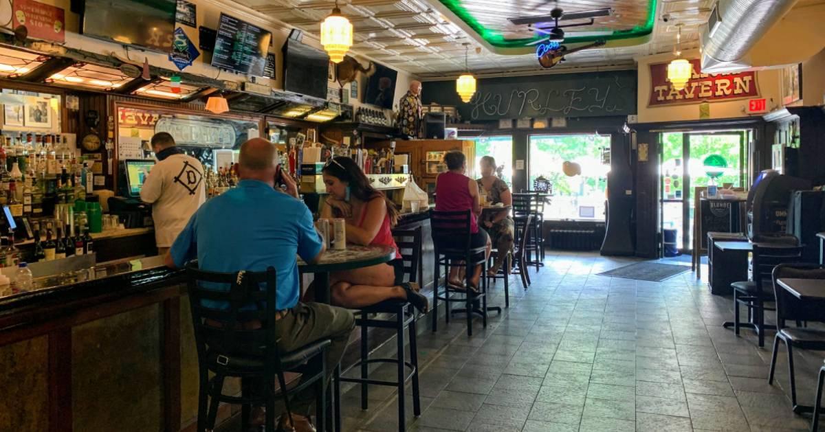 inside a bar/restaurant