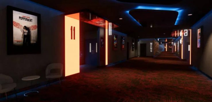 movie theater hallway