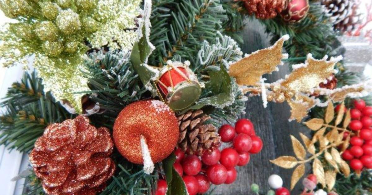 a decorative holiday wreath