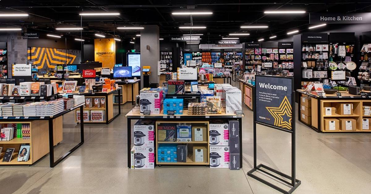 inside of an amazon 4 star store