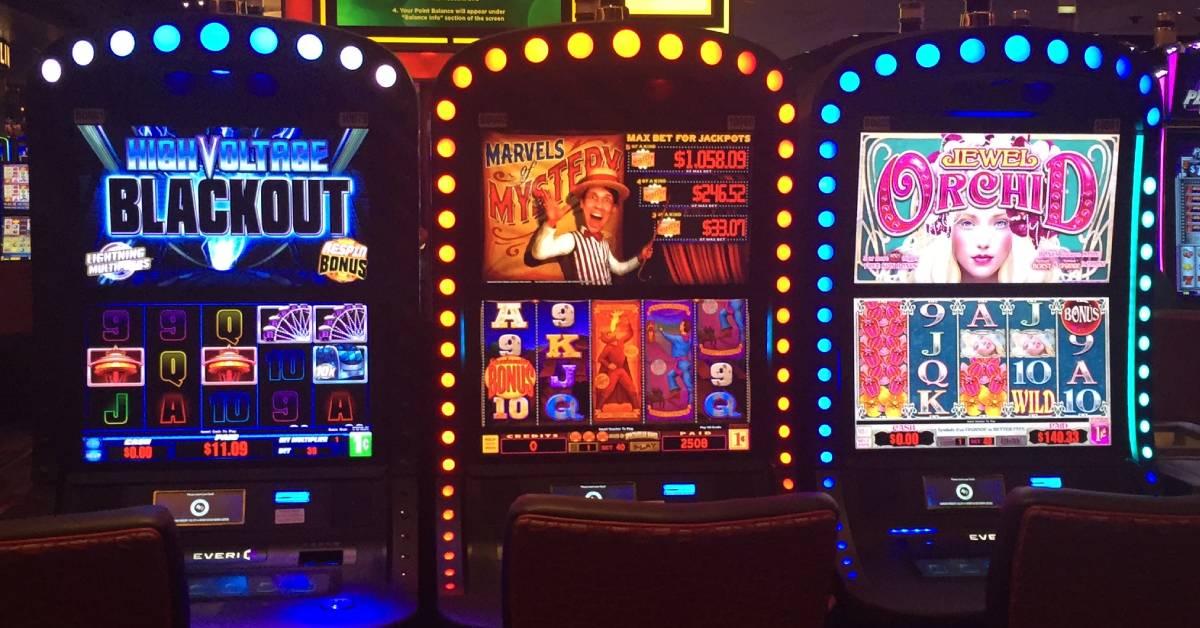 three slot machines
