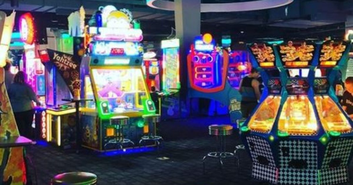 inside an arcade