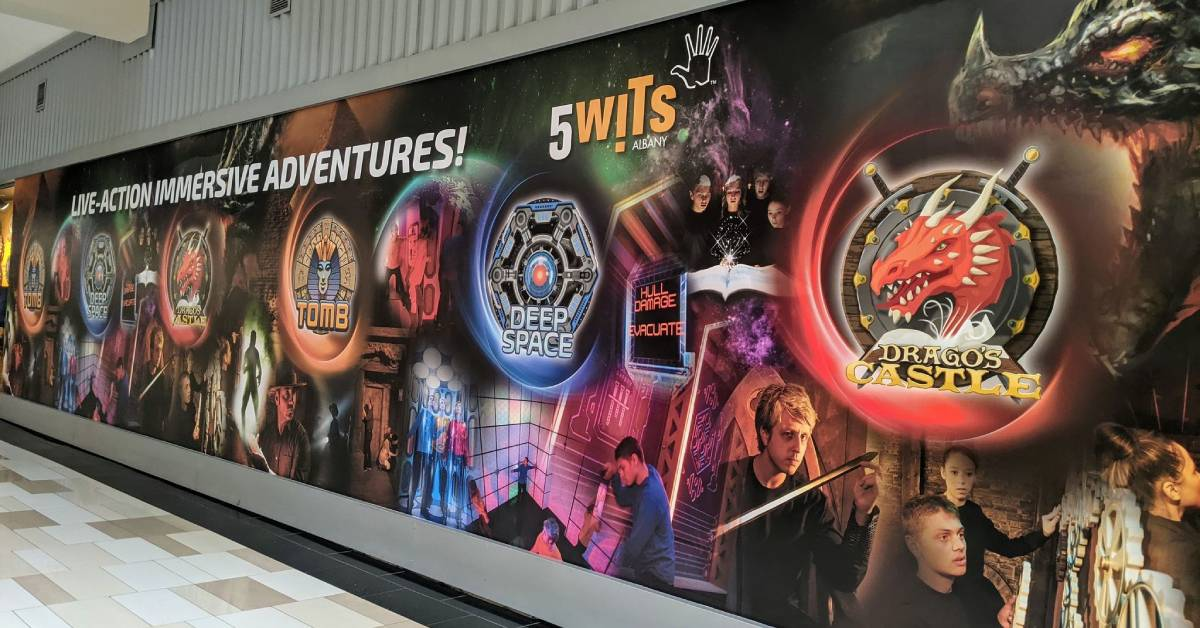 wall image promoting 5 wits