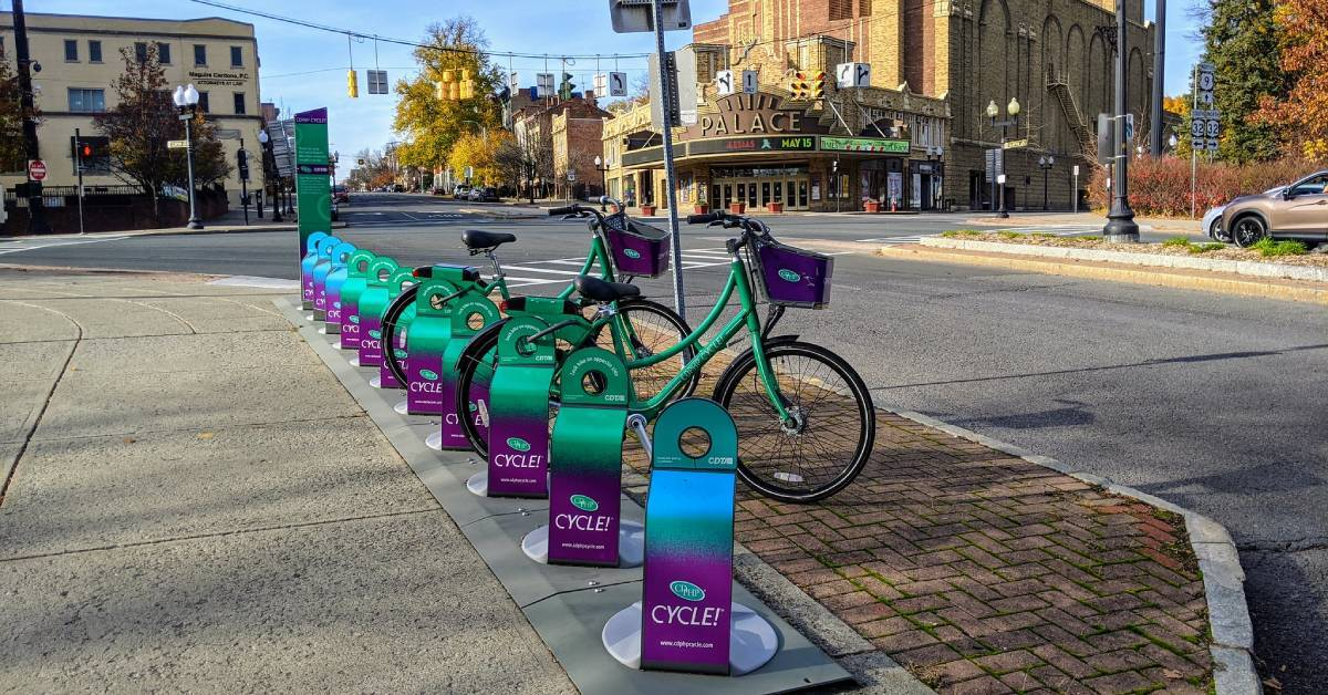 row of cdphp bikes on a road