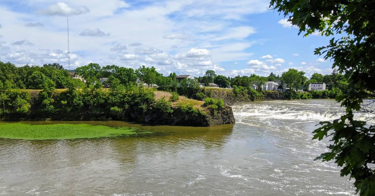 view of peebles island waterway