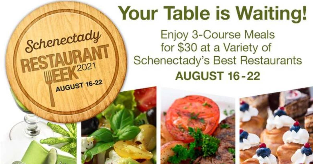 schenectady restaurant week 2021 promo image