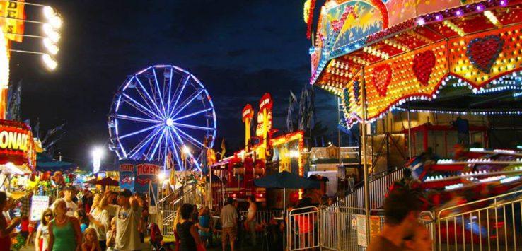 a fair at night