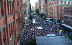 aerial view of a crowd