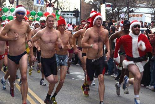 santa speedo sprint runners