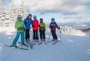 family skiing staycation at gore mountain