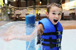 get wet and wild at lake george six flags indoor water park